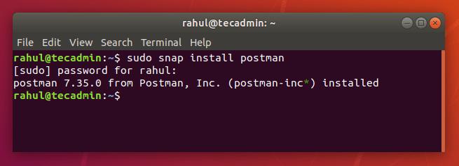 How to Install Postman on Ubuntu 18.04