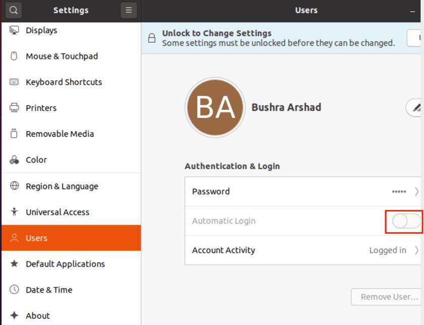 How to Enable Automatic Login on Ubuntu 20.04? 3