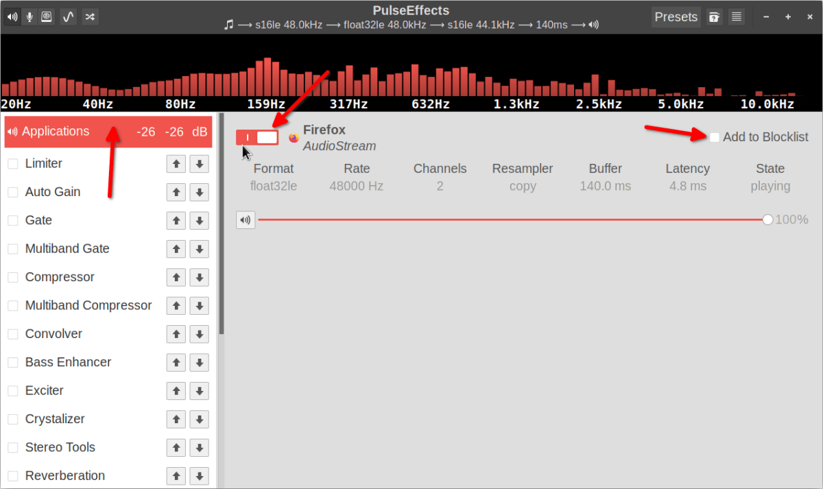 How to use PulseEffects Equalizer and Audio Enhancer in Linux 4