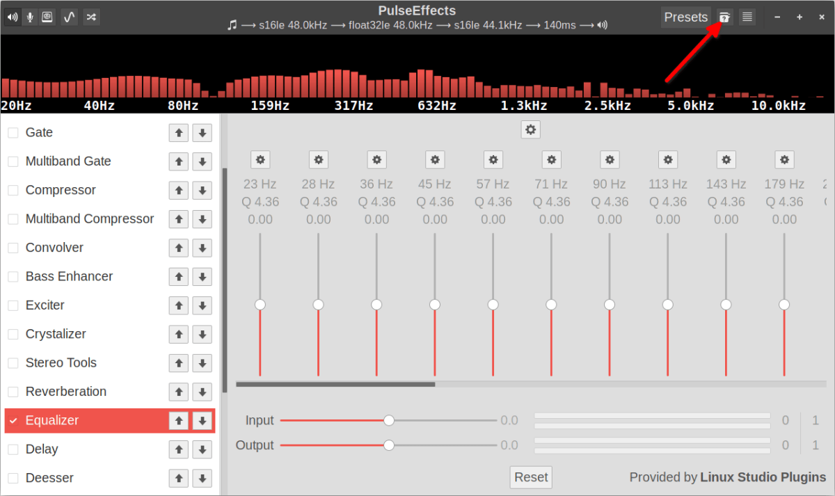 How to use PulseEffects Equalizer and Audio Enhancer in Linux 6
