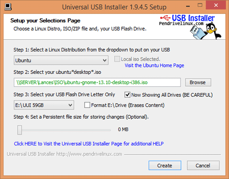 Pendrive Linux Universal USB installer