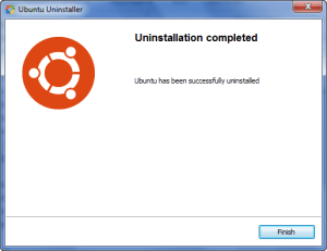 uninstall ubuntu
