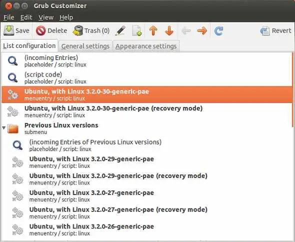 grub customizer ubuntu