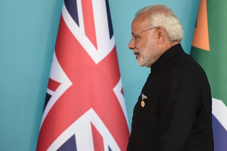 <p>Indian Prime Minister Narendra Modi arrives to attend the G20 Leaders' Summit welcoming ceremony on Nov. 15 in Antalya, Turkey. (Photo by Ozan Kose/AFP)</p>