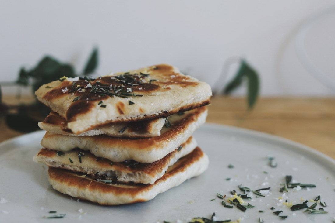one hour rosemary flatbreads