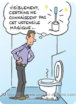 Règles de bon usage des toilettes.