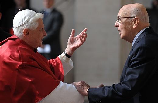 Benedetto XVi e Giorgio Napolitano