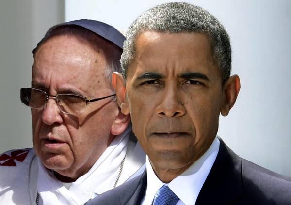 COMBO Barack Obama - Papa Francesco