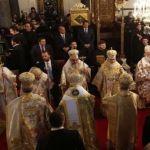 البطاركة ورؤساء الكنائس الارثوذكسية خلال القداس الاحتفالي الأحد 9 آذار 2014