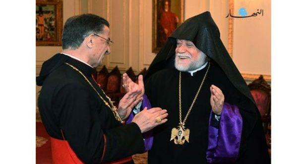 الراعي إستقبل كاثوليكوس الأرمن الأرثوذكس لبيت كيليكيا آرام الأول
