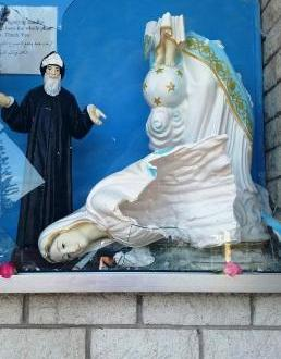 اعتداء على تمثال العذراء في كنيسة مار شربل في بانشبول في سيدني