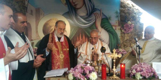 قداس في دير القديسة حنا القليعة في عيد شفيعته