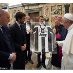 البابا فرنسيس يستقبل الرابطة الوطنيّة لمحترفي الدرجة الأولى ولاعبي كرة القدم في فريقي يوفنتُس وميلان