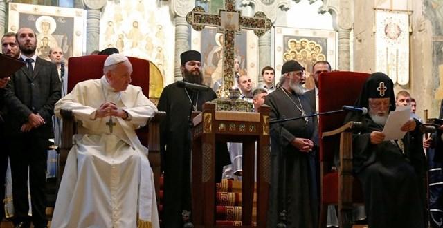 البابا فرنسيس يزور كاتدرائيّة سفيتيسخوفيلي في ميتسخيتا