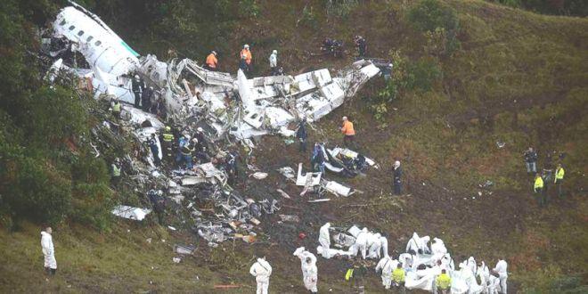 20 صحافيا رياضيا في عداد قتلى حادث تحطم الطائرة في كولومبيا