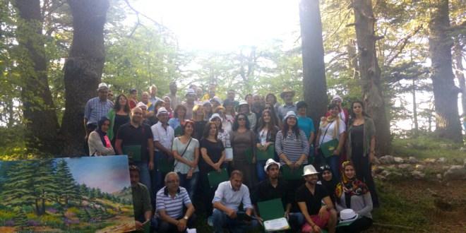 الليونز نظمت سمبوزيوم للرسم في محمية أرز الشوف