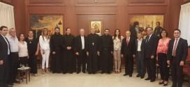 """""""أورا"""" في زيارة تهنئة للرئيس العام الجديد للرهبنة المارونية المريمية الأباتي مارون الشدياق:لتعزيز أواصر التعاون و توحيد المسيحيين في مجال الحضور الفعّال في الدولة"""