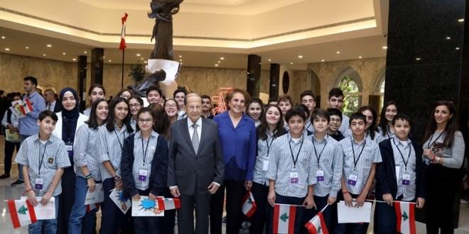 القصر الجمهوري فتح أبوابه للطلاب وذوي الحاجات الخاصة والمجتمع المدني في الذكرى ال75 للاستقلال