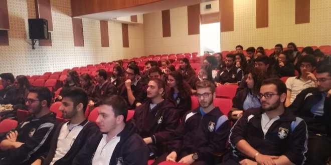 """""""لابورا"""" تنظم لقاءً توجيهياً في مدرسة سيدة جبل الكرمل في الفنار بمشاركة  حوالي 70 تلميذاً"""