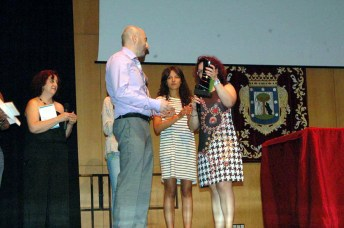 Ignacio Gracia recoge el premio