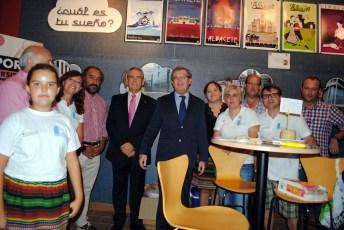 Visita del rector a las instalaciones de la UCLM en el Recinto Ferial