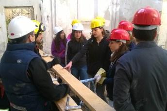 Alumnos de la UCLM, trabajando en la ermita