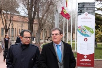 Miguel Ángel Collado y Avelino Corma en el Campus Tecnológico de la Fábrica de Armas de Toledo