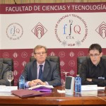 De izqda. a dcha.: Ángel Ríos, Miguel Ángel Collado y Javier Martínez