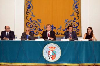 De izda. a dcha.: José María Coronado, Luciano Parejo, Miguel Ángel Collado, Miguel Beltrán y Dolores Utrilla