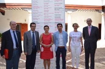 De izqda. a dcha.: Felipe Pedraza, Rafael González, Beatriz Cabañas, Daniel Reina, Natalia Menéndez y Juan Antonio Mondéjar