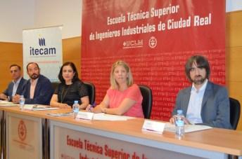 De izqda. a dcha.: Venancio Alberca, Jesús López, Fátima Guadamillas, Inmaculada Jiménez y Jorge Parra
