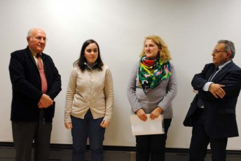 De izqda. a dcha: Andrés Sánchez, Milagros Rodríguez, Mar Arroyo y José Martínez
