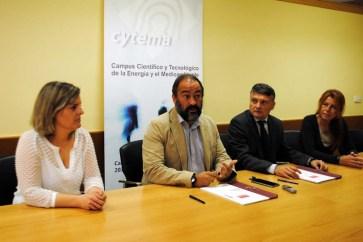 De izqda. a dcha: Rocío Fernández, Julián Garde, Rafael Bernabéu y Lydia Luque