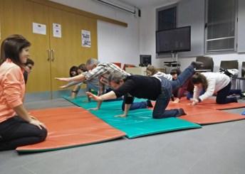 Sesión de gimnasia