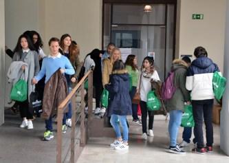 Alumnos, en su visita al Campus de Toledo