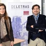 Matías Barchino y Elena González-Blanco junto a profesores de la Facultad de Letras