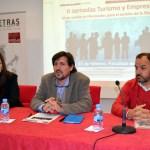Esther Bautista, Matías Barchino y Antonio Legorburo, en la presentación de las jornadas