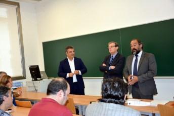 De izqda. a dcha.: Juan María Vázquez, Miguel Ángel Collado y Julián Garde