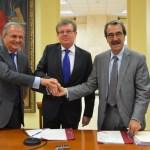 Ignacio Egea, Miguel Ángel Collado y Emilio Ontiveros