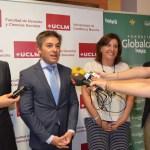 Rafael Torres, Manuel Villasalero, Patricia Franco y Juan Ramón de Páramo atienden a los medios
