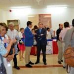 Ángel Raúl Ruiz Pulpón y Miguel Ángel Collado conversan antes de la inauguración del congreso