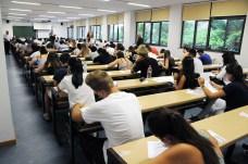 Instantes antes de comenzar la primera prueba en el Campus de Cuenca