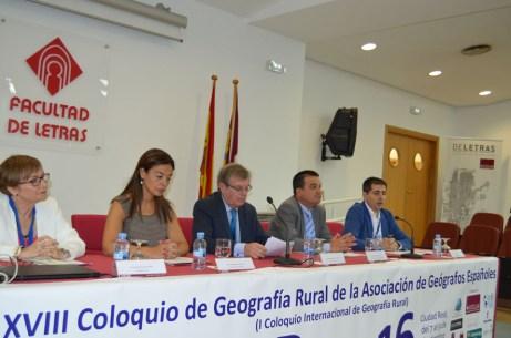 De izda. a dcha.: Carmen Delgado, Pilar Zamora, Miguel Ángel Collado, Francisco Martínez y Ángel Ruiz Pulpón