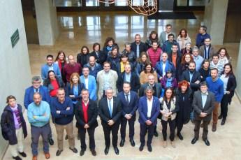Foto de grupo de los participantes en el encuentro celebrado en la UPNA