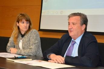 Cristina Rodríguez Yagüe y Juan José Rubio Guerrero, en la apertura del encuentro