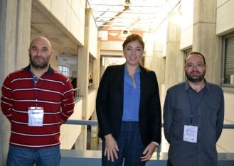 Ángela González junto a Virgilio Gómez y José Luis Cañadas