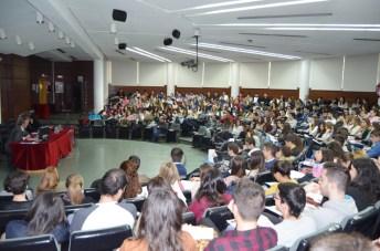 magen que presentaba el Aula Magna de la Biblioteca General del Campus de Ciudad Real durante la inauguración de las jornadas