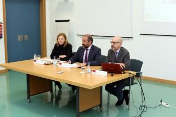 Ángela González, Julián Garde y Santiago Castaño