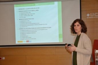 Patricia Gallego, al inicio de la ponencia