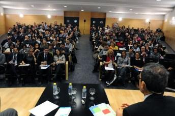 Asistentes al Congreso que se celebra en la Facultad de Ciencias Sociales de Cuenca